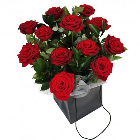 Red Roses in Gift bag